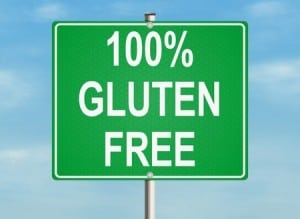 a sign that says 100% gluten free