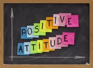 """a sign with the words """" positive attitude"""""""