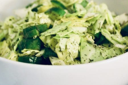 Cabbage Cucumber Salad