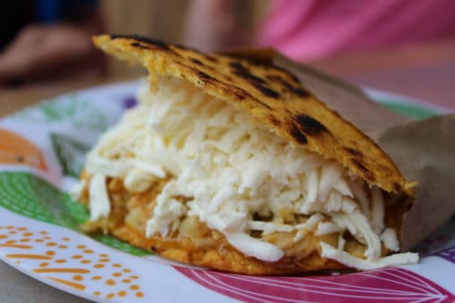 gluten free ecuador arepa with cheese Gluten Free in Ecuador