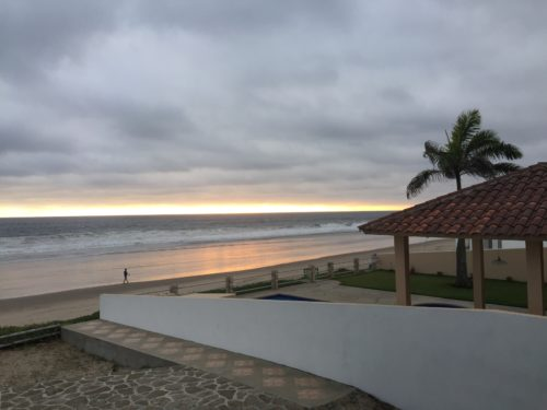 gluten free ecuador montanita beach at sunrise