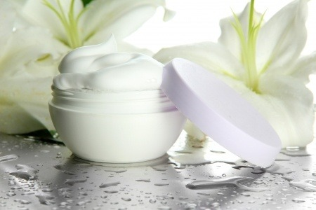 certain creams can help a chicken skin rash- image is of a bottle of skin cream