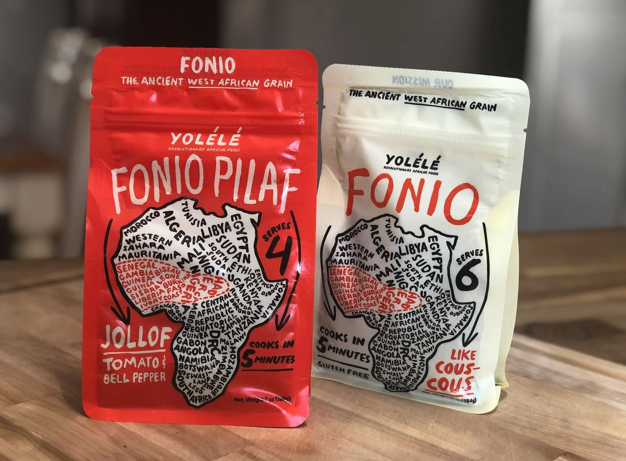 Two bags of fonio, a gluten free grain that is not actually a grain but is a seed
